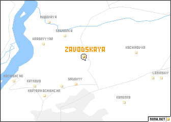 map of Zavodskaya