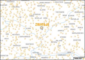 map of Završje