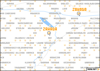 map of Zawada