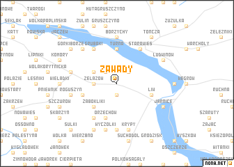 map of Zawady