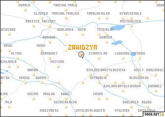map of Zawidzyn