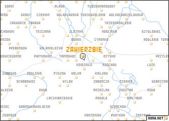 map of Zawierzbie