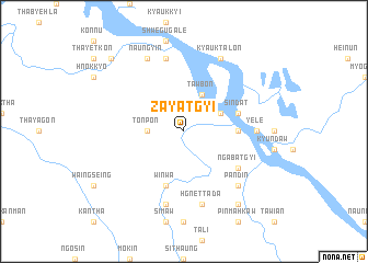 map of Zayatgyi