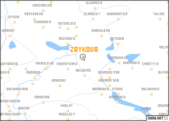map of Zaykova