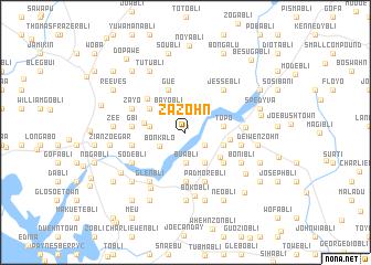 map of Zazohn