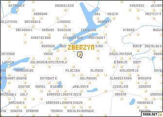 map of Zberzyn