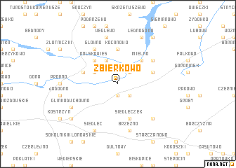 map of Zbierkowo