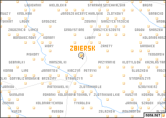 map of Zbiersk