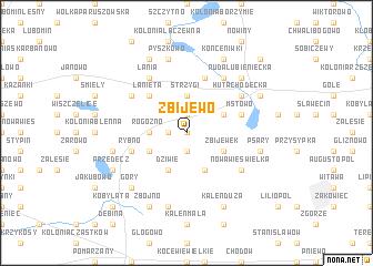 map of Zbijewo