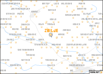 map of Zbilje