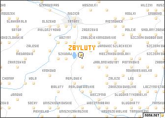 map of Zbyluty