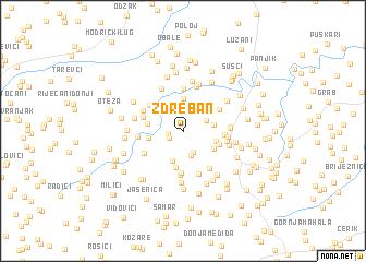 map of Ždreban