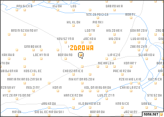 map of Zdrowa