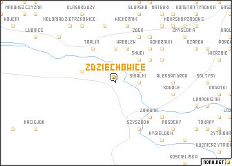 map of Zdziechowice