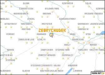 map of Żebry Chudek