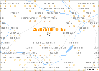 map of Żebry Starawieś