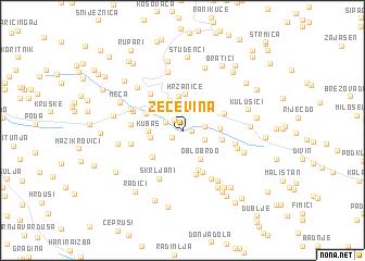 map of Zečevina