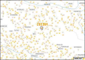 map of Zecovi