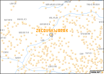map of Zecovski Jarak