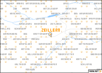 map of Zeillern