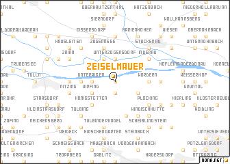 map of Zeiselmauer