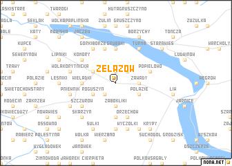 map of Żelazów