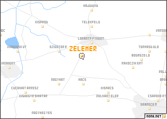 map of Zelemér