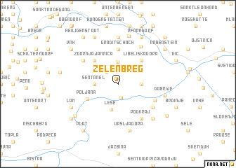 map of Zelen Breg