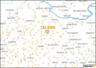 map of Zelenik