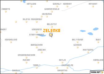 map of Zelënka