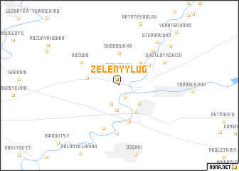 map of Zelënyy Lug