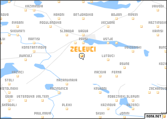 map of Zelevci