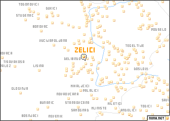 map of Zelići