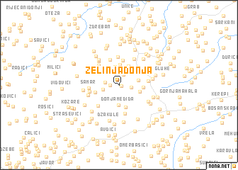 map of Zelinja Donja