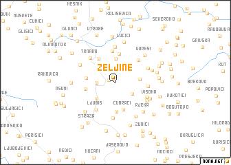 map of Željine