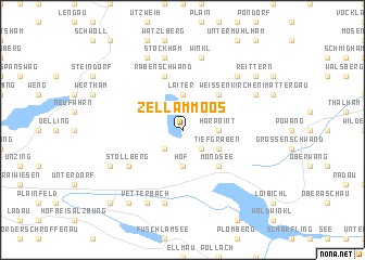 map of Zell am Moos