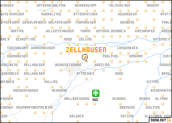 map of Zellhausen