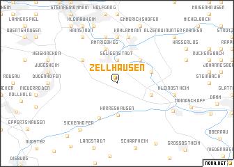 map of Zellhausen