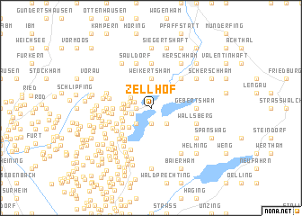 map of Zellhof