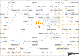 map of Zell