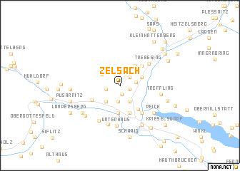 map of Zelsach
