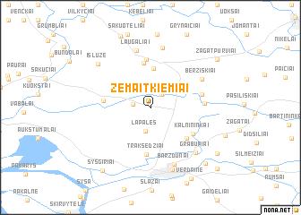 map of Žemaitkiemiai