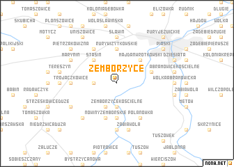 map of Zemborzyce