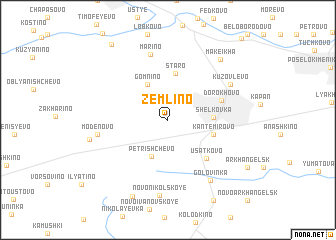 map of Zemlino