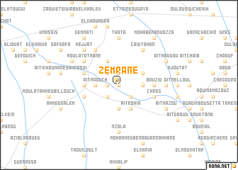 map of Zemrane