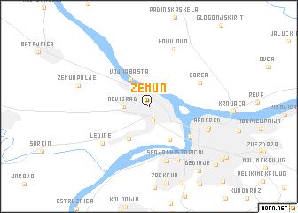 map of Zemun