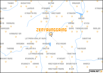 map of Zenyaunggaing