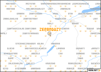 map of Żerań Duży