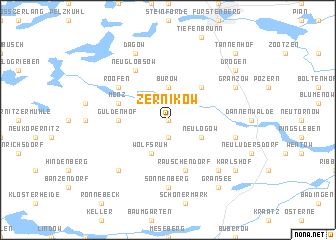 map of Zernikow