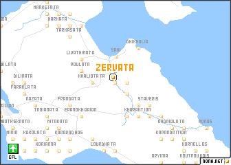map of Zerváta
